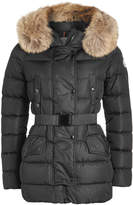 Moncler Clio Down Jacket with Fur-Trimmed Hood