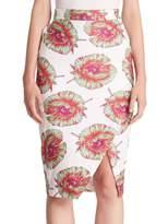 Altuzarra Women's Wilcox Floral-Print Pencil Skirt