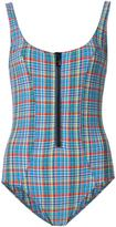 Lisa Marie Fernandez plaid one piece - women - Nylon/Polyester/Spandex/Elastane - 3