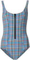 Lisa Marie Fernandez plaid one piece - women - Polyester/Nylon/Spandex/Elastane - 3