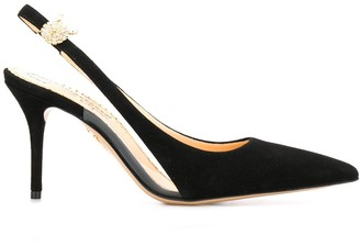 Charlotte Olympia Pointed Toe Slingback Pumps