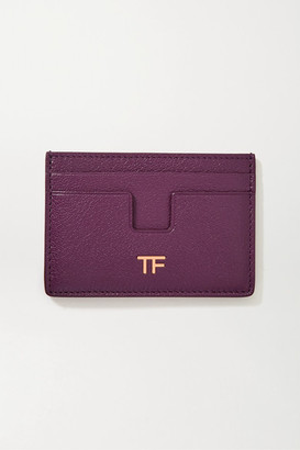 Tom Ford Textured-leather Cardholder - Purple