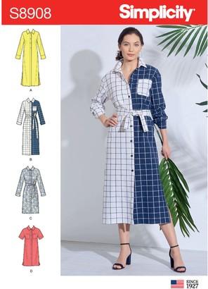 Simplicity Women's Dress Sewing Pattern, 8908