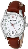 Wenger Ladies Teragraph Watch, White Dial Brown Leather Strap 521.101