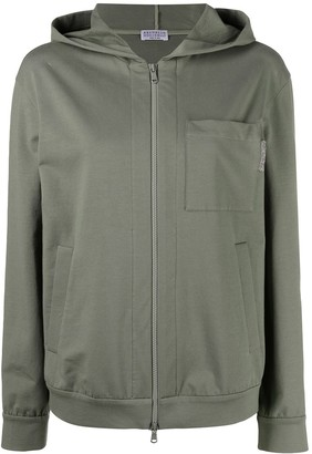 Brunello Cucinelli Patch-Pocket Hooded Sweatshirt