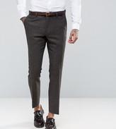 Heart & Dagger Slim Suit Trousers In Herringbone
