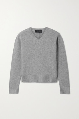Nili Lotan Isadora Merino Wool Sweater - Gray