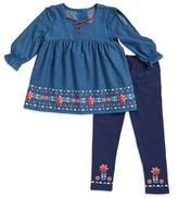 Nannette Little Girl's Denim Tunic and Leggings Set