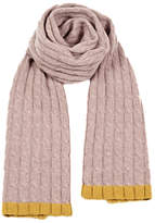 Hint of Mustard Cable Knitted Scarf