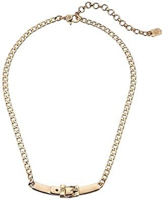 Lauren Ralph Lauren 16 Buckle Frontal Necklace (Gold) Necklace