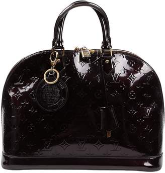 Louis Vuitton Alma Brown Patent leather Handbags