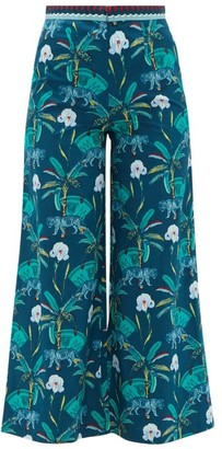 Le Sirenuse Positano Le Sirenuse, Positano - Natalie Cropped Printed-cotton Trousers - Navy Print