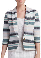 Paper Crown Talia Striped Blazer