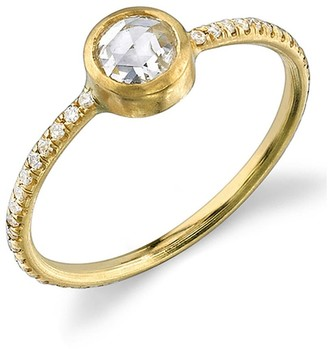 Irene Neuwirth Rose Cut Diamond Yellow Gold Stacking Ring