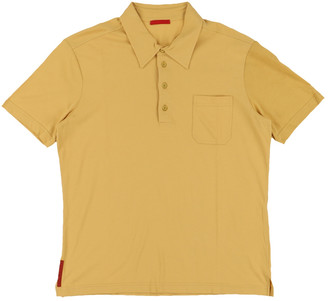 Prada Yellow Cotton Polo shirts