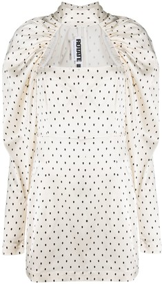 Rotate by Birger Christensen Kaya polka-dot dress