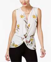 Thalia Sodi High-Low Hardware Top, Only at Macy's