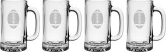 Susquehanna Glass susquehanna Football Set Of Four 16Oz Beer Glasses