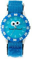 Sesame Street Cookie Monster Children's Silly Blue Time Teacher Watch in Plastic w/Nylon Strap