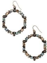 BaubleBar Women's Bellflower Hoop Earrings