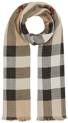 Burberry reversible check-pattern scarf
