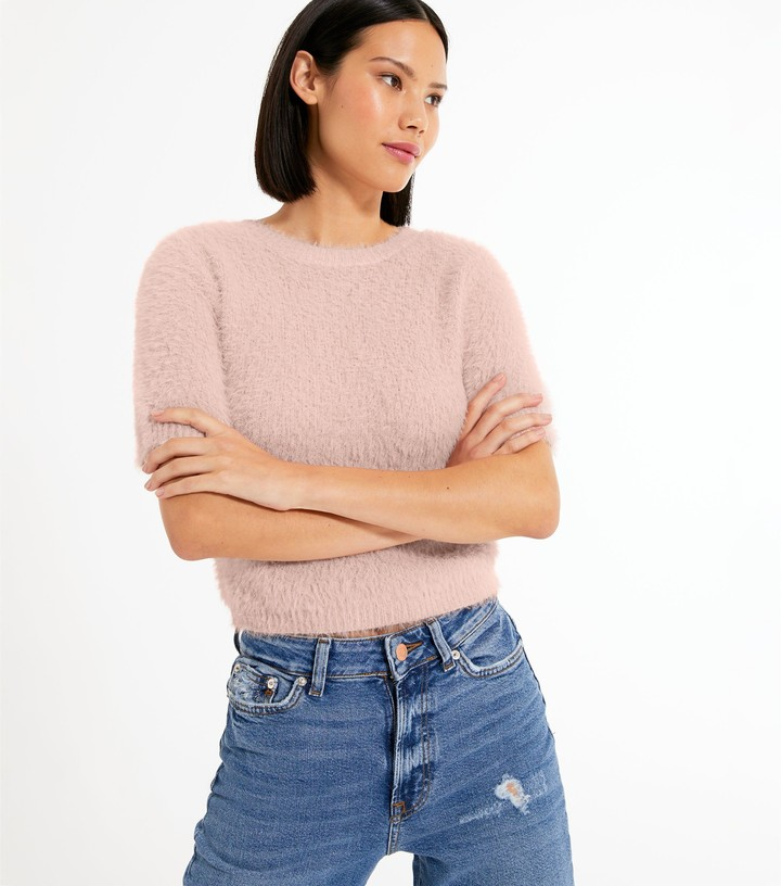 Thumbnail for your product : New Look Short Sleeve Fluffy Knit Top