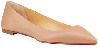 Christian Louboutin Ballalla Point-Toe Red Sole Ballet Flats
