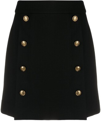 Givenchy Button-Front Skirt