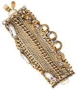 Erickson Beamon Crystal & Chain Multistrand Bracelet