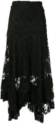 Alexis Yarelli lace asymmetric skirt
