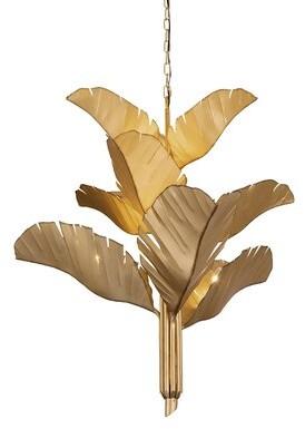 Varaluz 9 - Light Unique Tiered Chandelier Finish: Gold