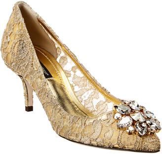 Dolce & Gabbana Crystal Embellished Taormina Lace Pump