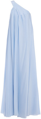 Lanvin One-shoulder Gathered Crepe Gown