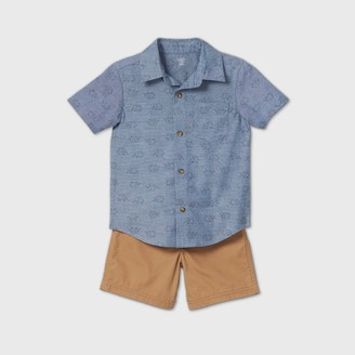 Just One You Made By Carter's Toddler Boys' 2pc Elephant Graphic Top & Bottom Set - Just One You® made by carter's Gray/Brown