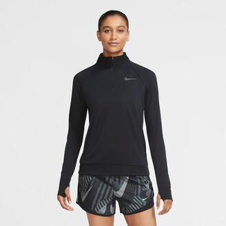 Nike High-Neck Sports T-Shirt with Long Sleeves