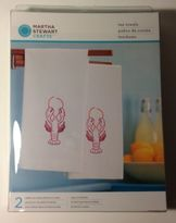 Martha Stewart Crafts Easy To Stich Kit Set Of 2-lobster Tea Towels 100% Cotton