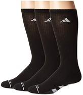 adidas Cushioned II Crew Socks 3-Pack (Black/White/Black/Onix Marl) Men's Crew Cut Socks Shoes