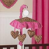 JoJo Designs Cheetah Girl Pink and Brown Musical Crib Mobile by Sweet