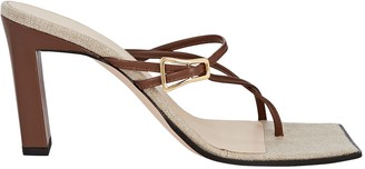 Wandler Yara Leather Slide Sandals