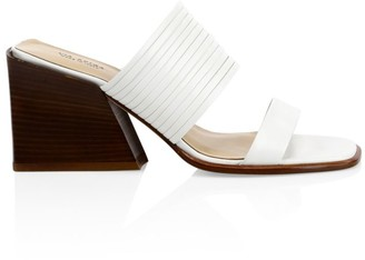 Via Spiga Mariam Leather Mule Sandals