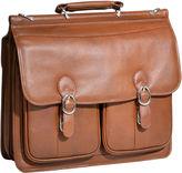 McKlein McKleinUSA Hazel Crest 15.4 Leather Double Compartment Laptop Briefcase