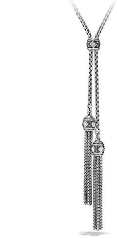 David Yurman Renaissance Pave Diamond Tassel Necklace