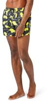 Topman Men's Neon Camo Swim Trunks