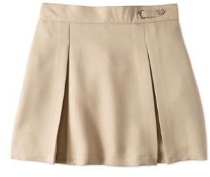 Wonder Nation Girls School Uniform Button Side Tab Scooter Skirt, Sizes 4-16 & Plus