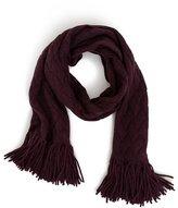 Akris Punto Fringed Cable-Knit Shawl