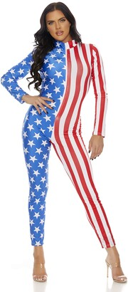 Forplay Women's Flag Zipfront Jumpsuit