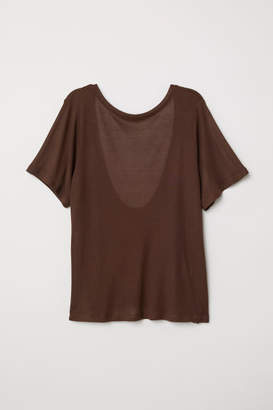 H&M Top with Low-cut Back - Brown