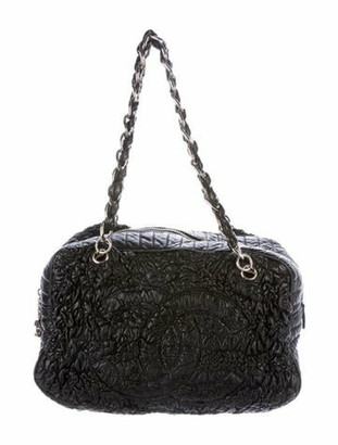 Chanel Astrakan Bowler Bag Black