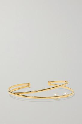 Mizuki 14-karat Gold Pearl Cuff