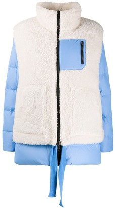 Sjyp Double-Layered Quilted Jacket